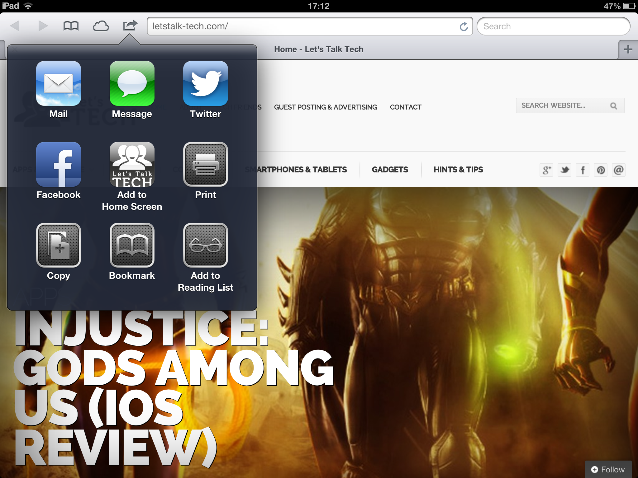Add Websites to iOS Home Screen