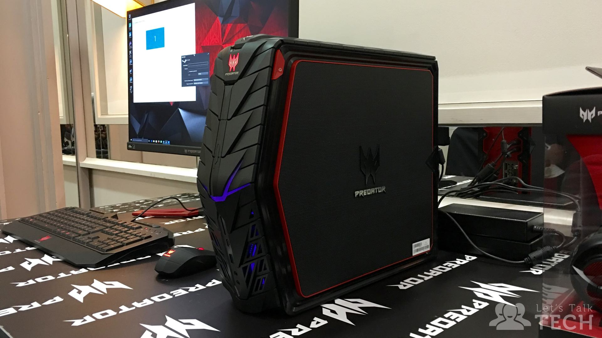 first look at acer 39 s compact predator g1 gaming desktop pc let 39 s talk tech. Black Bedroom Furniture Sets. Home Design Ideas