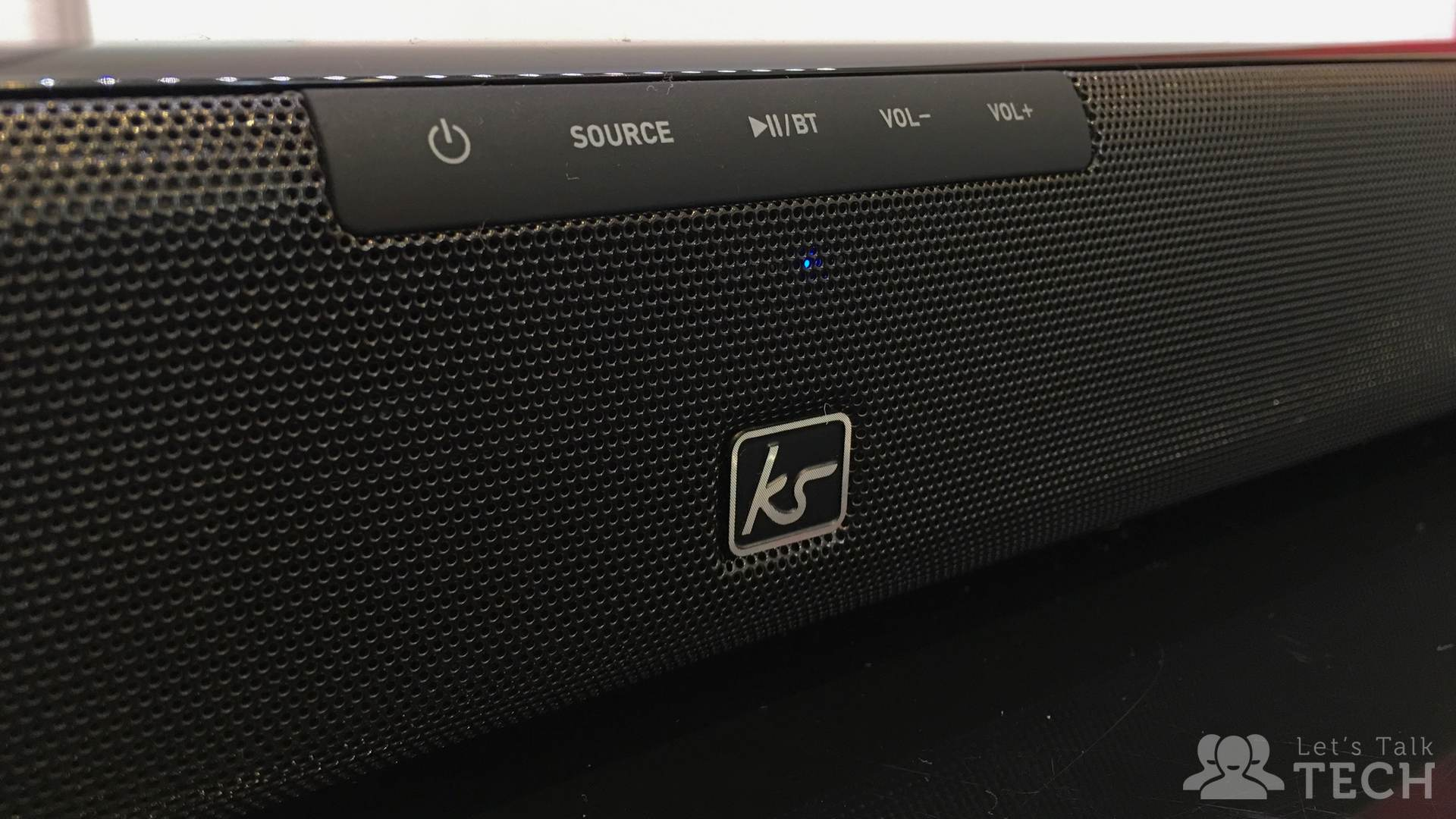 KitSound's Stadium 120 soundbar has a very simple design