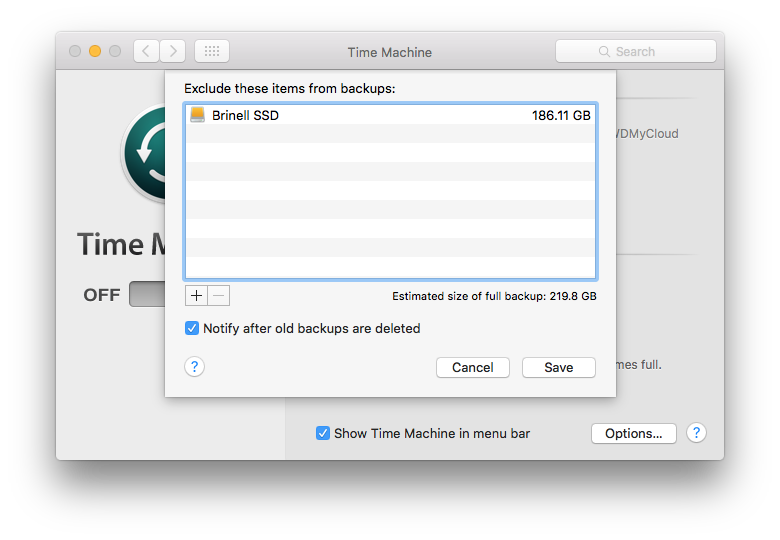 time machine external drives