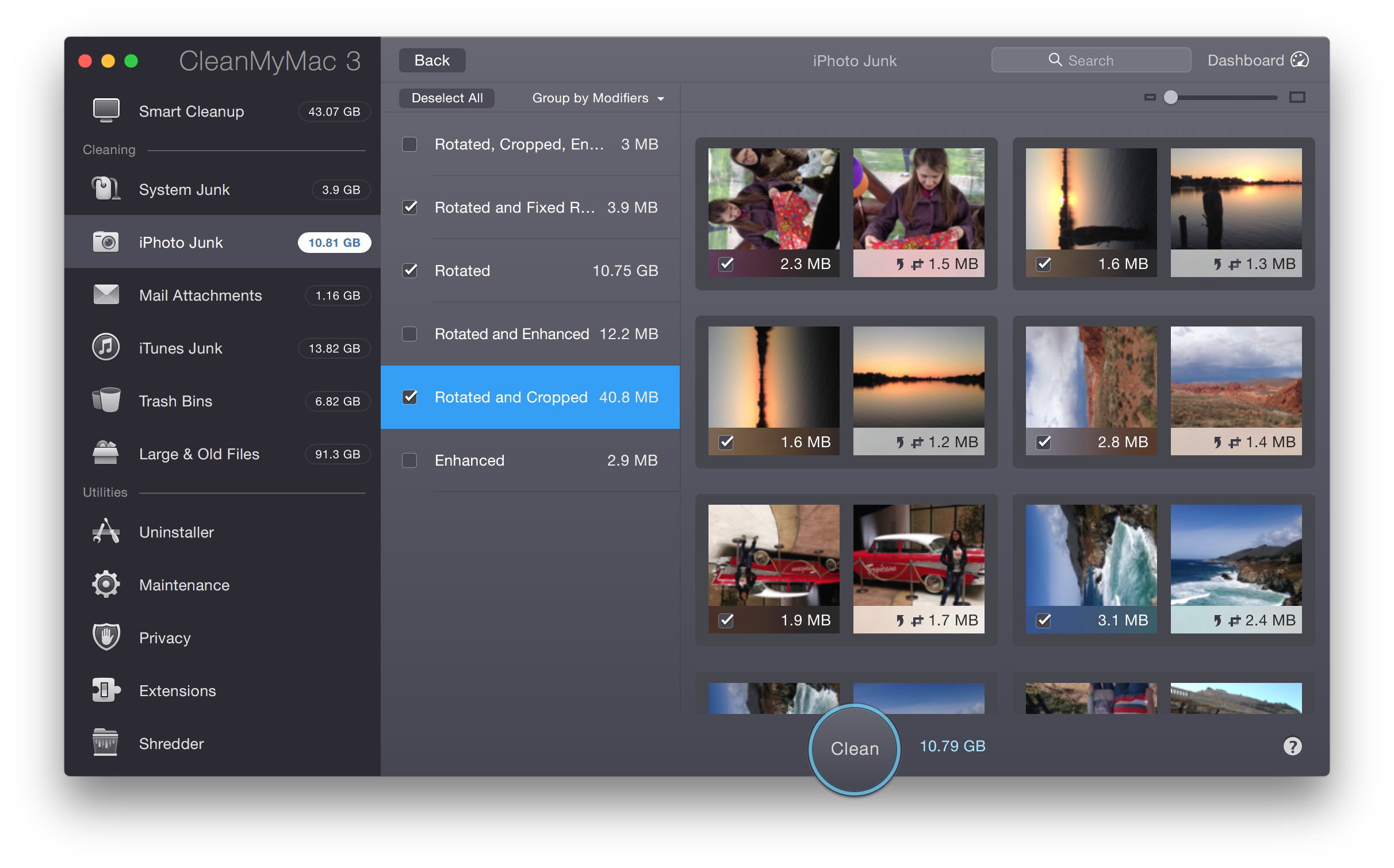 3.4 iPhoto Junk –Detailed Results
