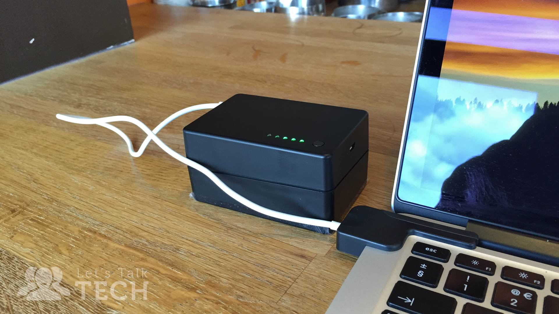 BatteryBox Mac Charger Plugged In