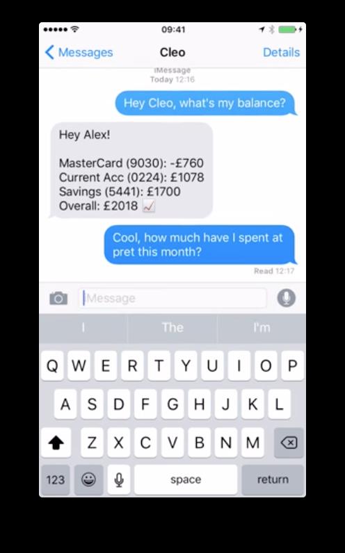 cleo-ai-assistant-money-screenshot
