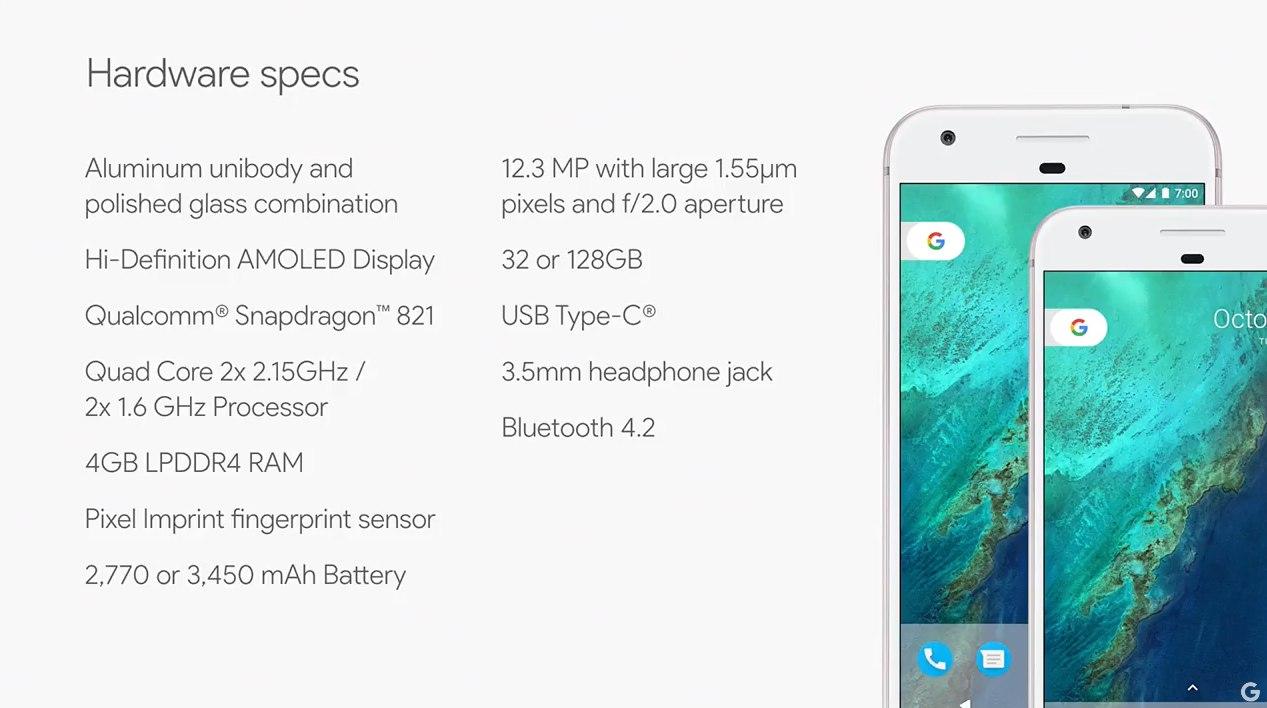 google-pixel-specs